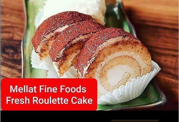 Fresh Roulette Cake Baked